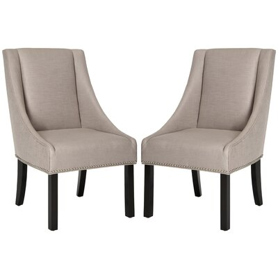 Molly Sloping Arm Chair Finish: Espresso, Color: Smoke