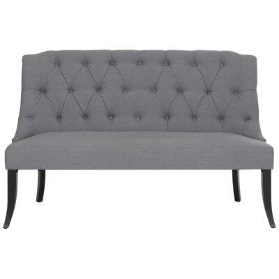 Valerie Settee in Teal Upholstery: Gray