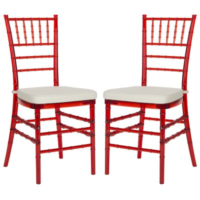 Jefferson Place Side Chair Finish: Red