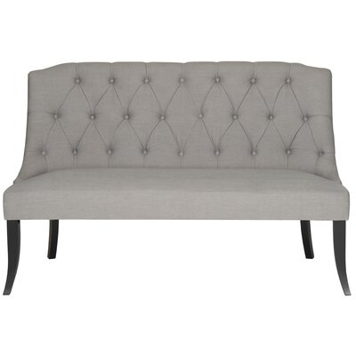 Valerie Settee in Teal Upholstery: Taupe