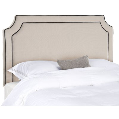 Dane Twin Upholstered Panel Headboard Upholstery: Taupe/Black Welt, Size: King