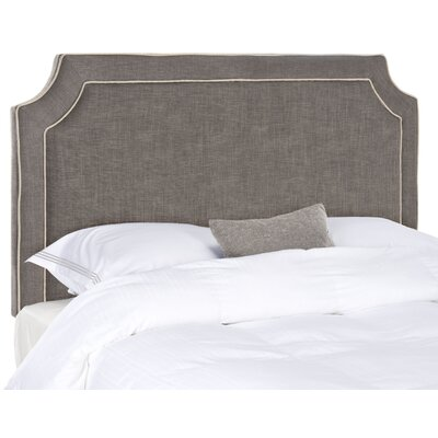 Dane Twin Upholstered Panel Headboard Upholstery: Charcoal/Light Grey, Size: King