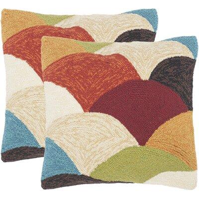 Gretchen Riainbow Mountain Indoor/Outdoor Decorative Polypropelene Throw Pillow
