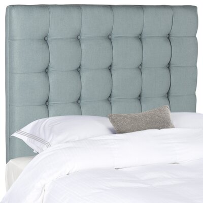Lamar Upholstered Panel Headboard Size: Twin, Upholstery: Slate Blue
