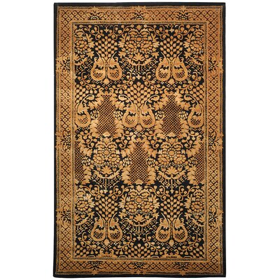 Imperial Black/Brown Area Rug Rug Size: 4 x 6