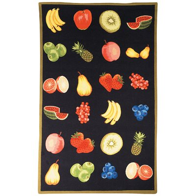 Chelsea Black Savoy Fruit Rug Rug Size: Rectangle 79 x 99