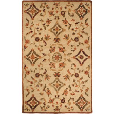 Imperial Hand-Tufted Brown Area Rug Rug Size: Round 6