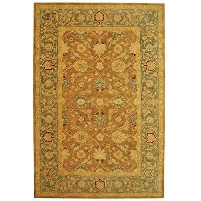 Anatolia Hand-Tufted Yellow/Green Area Rug Rug Size: Rectangle 5 x 8