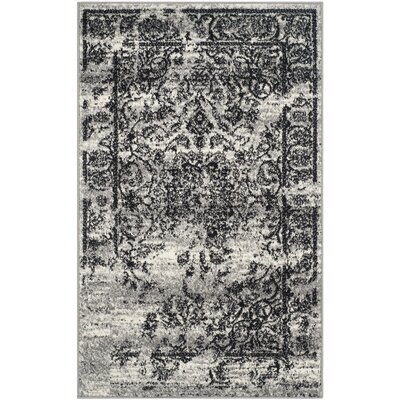 Costa Mesa Silver/Black Area Rug Rug Size: Rectangle 3 x 5
