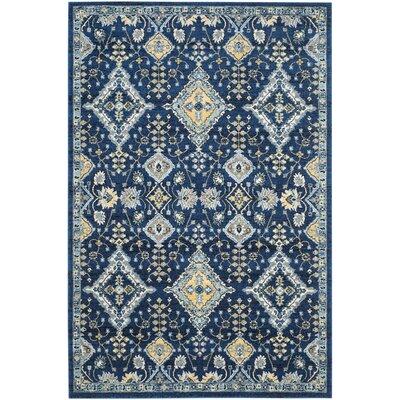 Ameesha Blue Area Rug Rug Size: 8 x 10