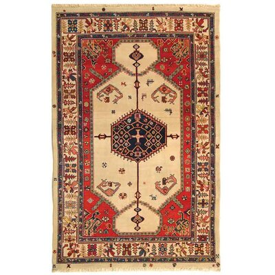 Rectangle: 6 x 9 - Turkistan Ivory Oriental Rug
