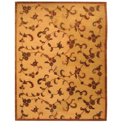 Imperial Cream/Brown Area Rug Rug Size: Rectangle 5 x 8