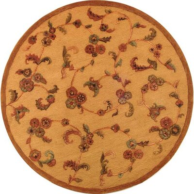 Imperial Cream/Brown Area Rug Rug Size: Round 8