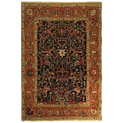 Turkistan Navy / Red Oriental Rug Rug Size: 6 x 9 Rectangle