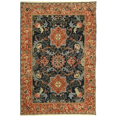 Turkistan Blue / Rust Oriental Rug Rug Size: 6 x 9 Rectangle