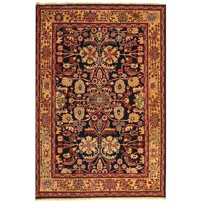 Turkistan Navy / Beige Oriental Rug Rug Size: 9 x 12 Rectangle