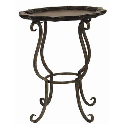 Cheap Safavieh Lorraine Scalloped Side Table in Dark Brown Cherry (FV2442)