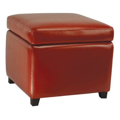 Jonathan Cube Storage Ottoman Color: Red