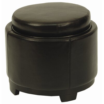 Round Cocktail Ottoman Upholstery: Black