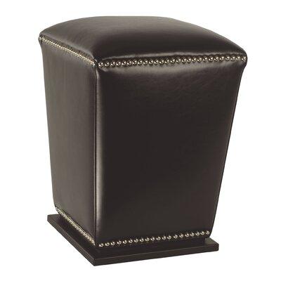 Mason Ottoman Upholstery: Dark Brown
