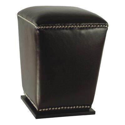 Mason Ottoman Upholstery: Black