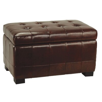 Small Manhattan Storage Bench in Black / Cordovan