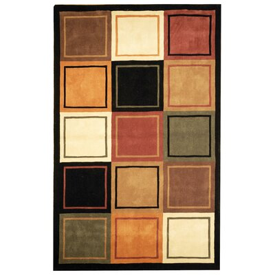 Rodeo Drive Hand Tufted Wool Gold/Black Area Rug Rug Size: 76 x 96