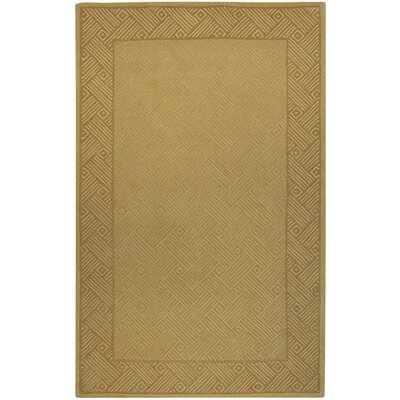 Soho Zen Garden Hand Tufted Wool Gold Area Rug Rug Size: 36 x 56