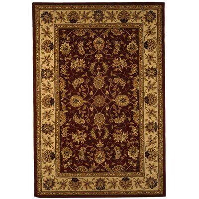 Traditions TD602D Burgundy / Ivory Oriental Rug Rug Size: Rectangle 5 x 8
