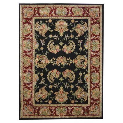 Traditions Black Area Rug Rug Size: 10 x 14