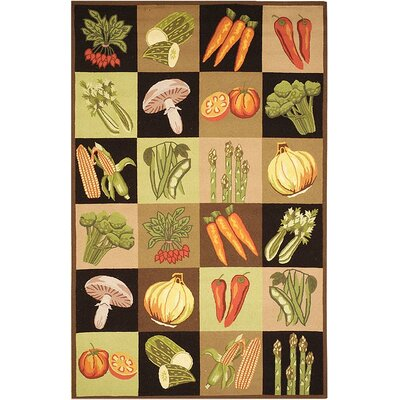 Vintage Posters Vegetable Collage VP251A Multi Novelty Rug Rug Size: Round 5