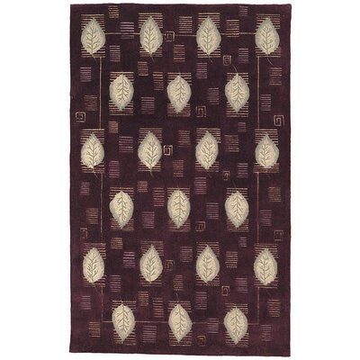 Berkeley Plum Leaves Area Rug Rug Size: Rectangle 89 x 119