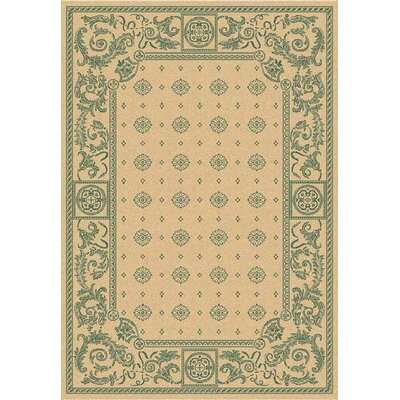 Courtyard Natural / Green Indoor / Outdoor Rug CY1356-3501 Rug Size: 67 Round