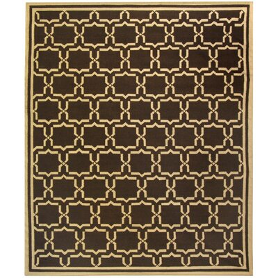 Dhurrie Chocolate Area Rug Rug Size: Rectangle 5 x 8