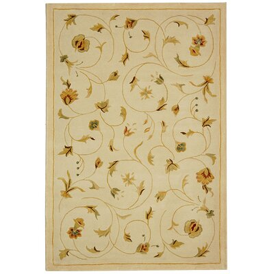 French Tapis FT237A Cream Contemporary Rug Rug Size: 23 x 12 Runner