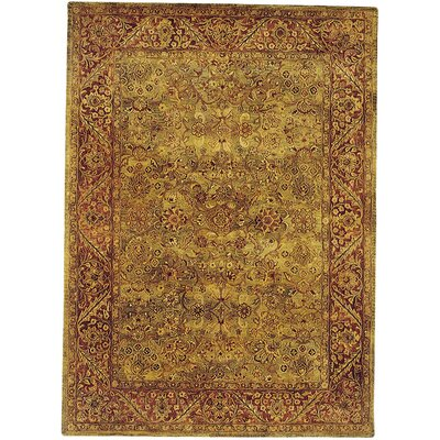 Golden Jaipur Patina Green/Rust Area Rug Rug Size: Round 8