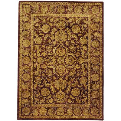 Golden Jaipur Tradition Brown/Red Area Rug Rug Size: Round 5