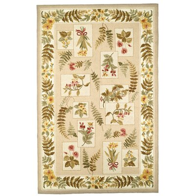 Chelsea Ivory Ferns Rug Rug Size: 6 x 9 Rectangle