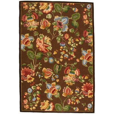 Isabella Brown Area Rug Rug Size: 18 x 26