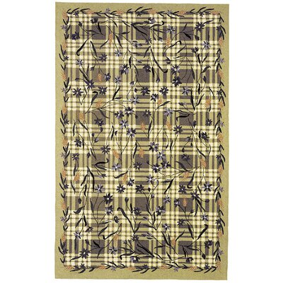 Kinchen Ivory/Sage Plaid Area Rug Rug Size: Rectangle 39 x 59