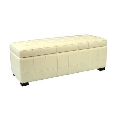 Small Manhattan Storage Bench in Off-White 683726417415