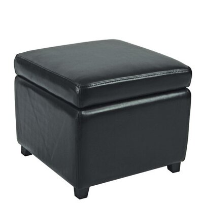 Jonathan Storage Ottoman Color: Black