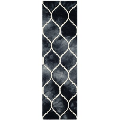 El Segundo Hand-Tufted Graphite/Ivory Area Rug Rug Size: Runner 23 x 6