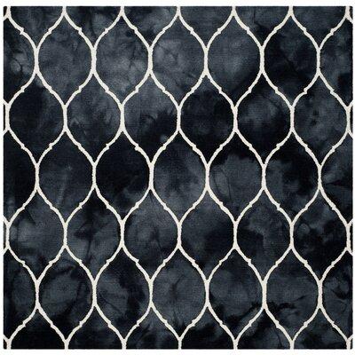 El Segundo Hand-Tufted Graphite/Ivory Area Rug Rug Size: Square 7 x 7