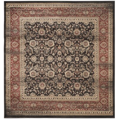 Vintage Black/Rust Area Rug Rug Size: Square 67