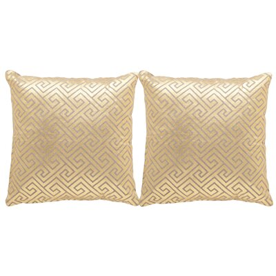 Jayden Linen Throw Pillow Size: 18