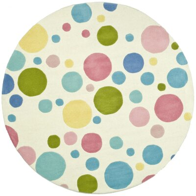 Soho Pastel Hand-Woven Wool Area Rug Rug Size: Round 6