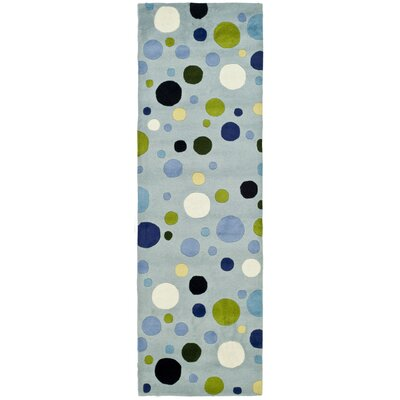 Soho Hand-Tufted Wool Blue Area Rug Rug Size: Runner 26 x 8