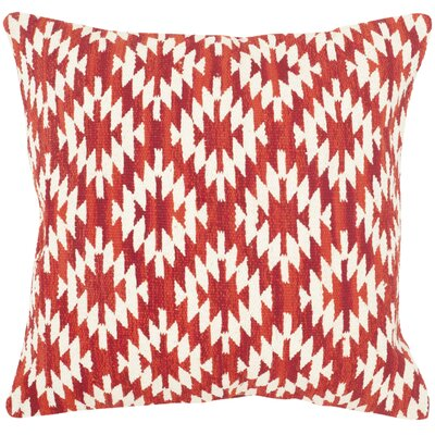 Navajo Cotton Throw Pillow Color: Red