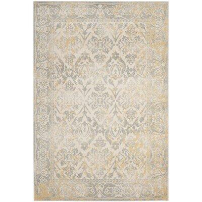 Evoke Ivory/Gray Area Rug Rug Size: Square 5'1